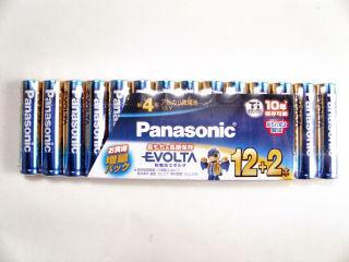 パナソニック 単4形エボルタ乾電池 12+2本 LR03EJSP/14S