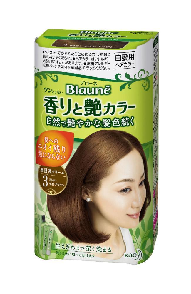 花王 ブローネ 香りと艶カラー クリーム 3 明るいライトブラウン