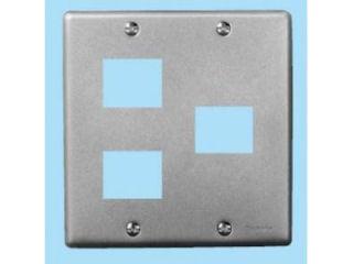 パナソニック 新金属プレート 2個+1個用 WN7573