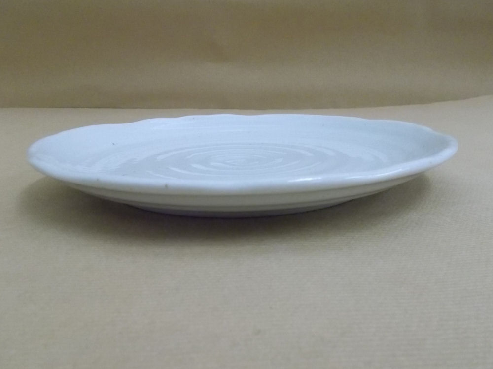 【美濃焼】粉引 中皿 21.5cm