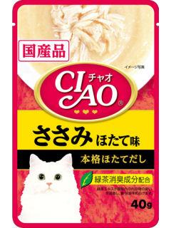 いなば チャオパウチ ささみほたて味 40g