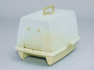 砂落としマット付 脱臭ネコトイレ SN-520 ミルキーブラウン