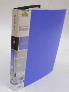 キングジム ショットドックス名刺ファイル 36SD 青