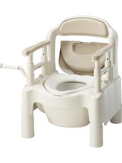 ポータブルトイレ FX-CP 補助なし ベージュ