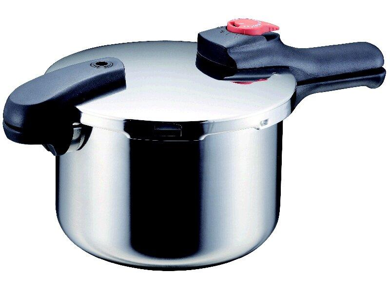 ステンレス切替式圧力鍋 22cm 5.5L 8合炊