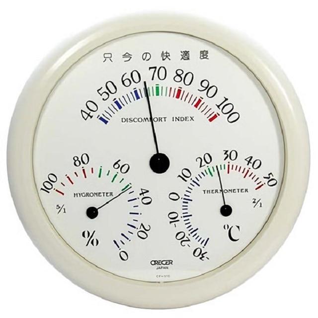 壁掛用アナログ快温湿度計 CF-310W