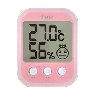 デジタル温湿度計 ピンク O-251PK