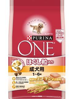 ピュリナワン ドッグ ほぐし粒入り 成犬用 チキン 2.1kg