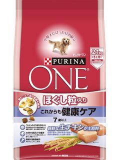 ピュリナワン ドッグ ほぐし粒入り 7歳以上 これからも健康ケア チキン 2.1kg