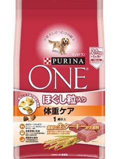 ピュリナワン ドッグ ほぐし粒入り 成犬用体重ケア ターキー 2.1kg