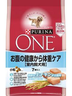 ピュリナワン ドッグ 7歳以上室内犬用 お腹の健康から体重ケア 小粒チキン 2.1kg