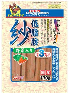 ドギーマン 低脂肪 紗 野菜入り 170g