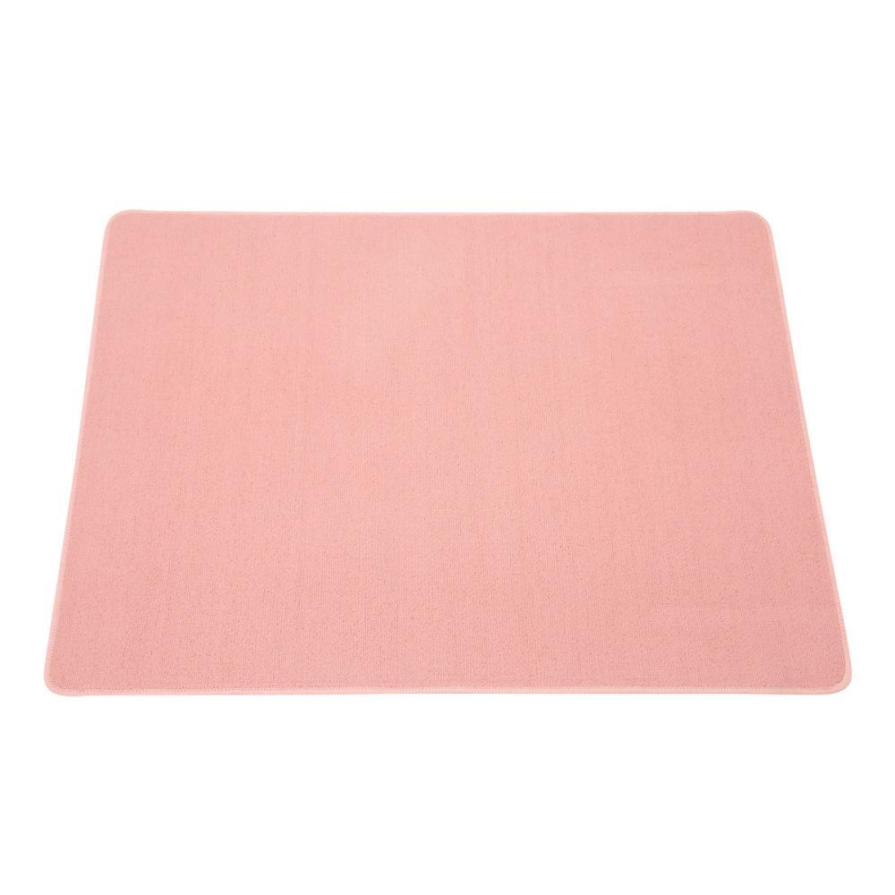 デスクカーペット 133×110cm ピンク