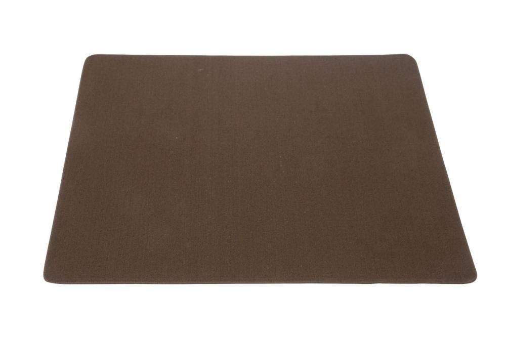 デスクカーペット 133×110cm ブラウン