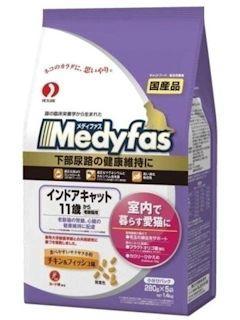 ペットライン メディファス インドアキャット 11歳から 老齢猫用 チキン&フィッシュ味 1.4kg