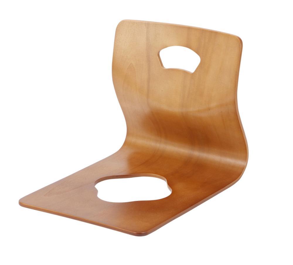 曲木和座椅子 ブラウン
