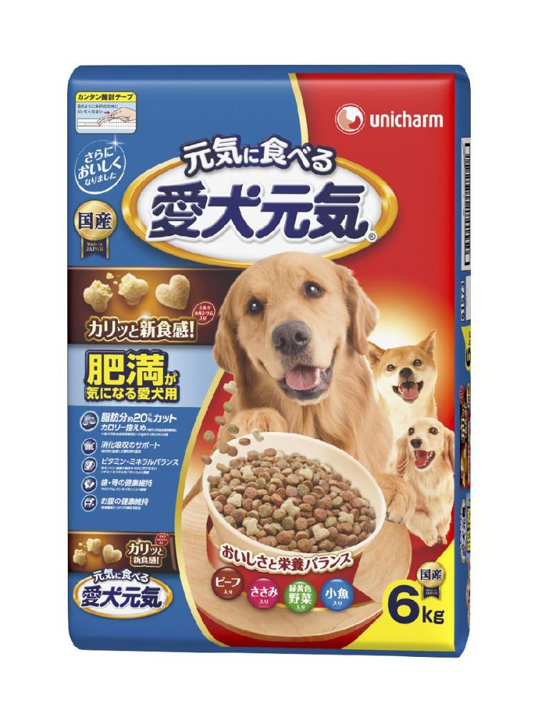 ユニ・チャーム 愛犬元気 肥満が気になる愛犬用 ビーフ・ささみ・緑黄色野菜・小魚入り 6kg
