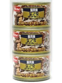 Pet ami 猫貴族 かつおまぐろ ささみ入り 160g×3缶パック