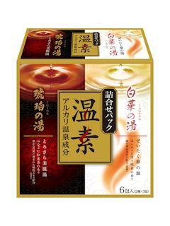 アース 温素 琥珀の湯&白華の湯 詰め合わせパック 6包入(2種×3包入)