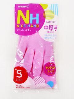 ナイスハンド ミュー 中厚手 Sサイズ ピンク