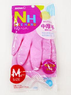 ナイスハンド ミュー 中厚手 Mサイズ ピンク