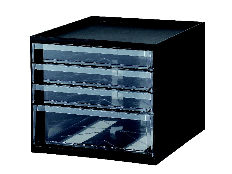 KSレターケース4段ブラック