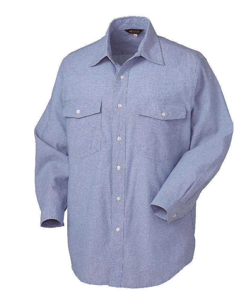 ダンガリーシャツ 25874 ブルー 各サイズ