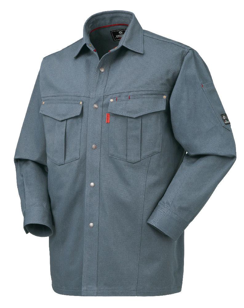 綿長袖シャツ 25597 各種