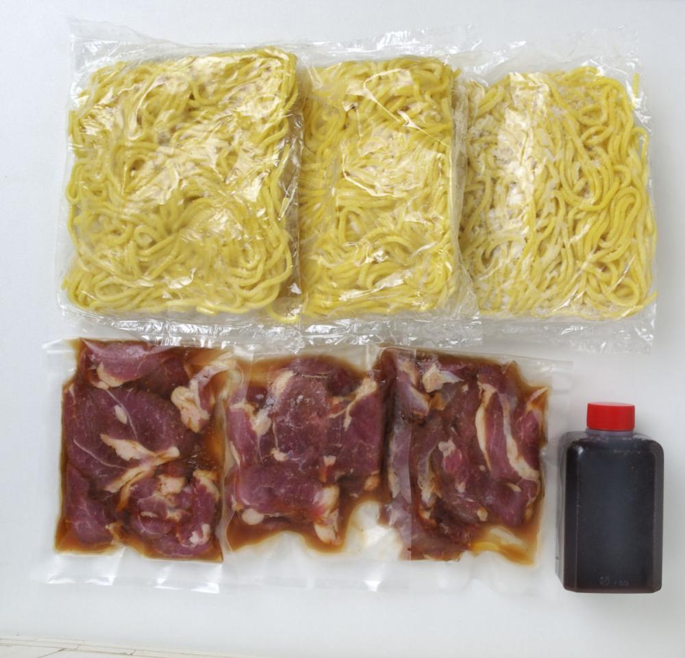 ジンギスカン焼きそば 3食セット【北海道千歳市加工】