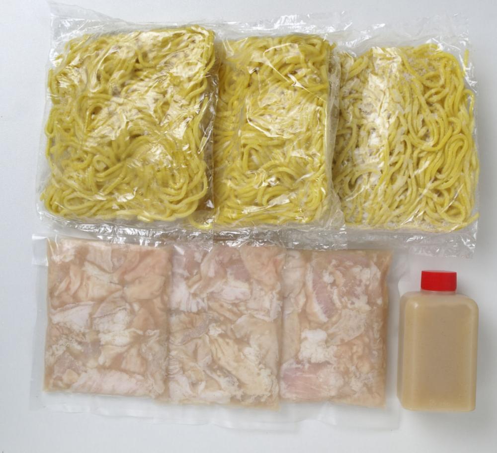塩ホルモン焼きそば 3食セット【北海道千歳市加工】