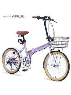 折畳自転車20・6段ギア・オールインワン M 252 可愛さのオーキッド