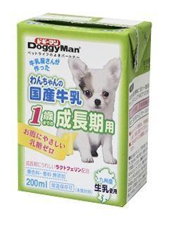 ドギーマン わんちゃんの国産牛乳1歳までの成長期用 200ml