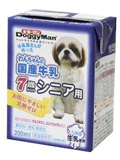 ドギーマン わんちゃんの国産牛乳7歳からのシニア用 200ml