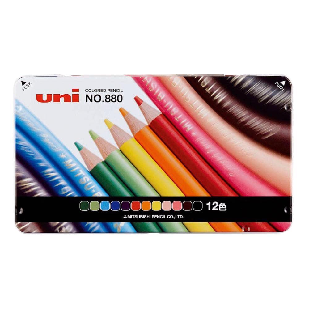 三菱鉛筆 色鉛筆 880級 12色セット
