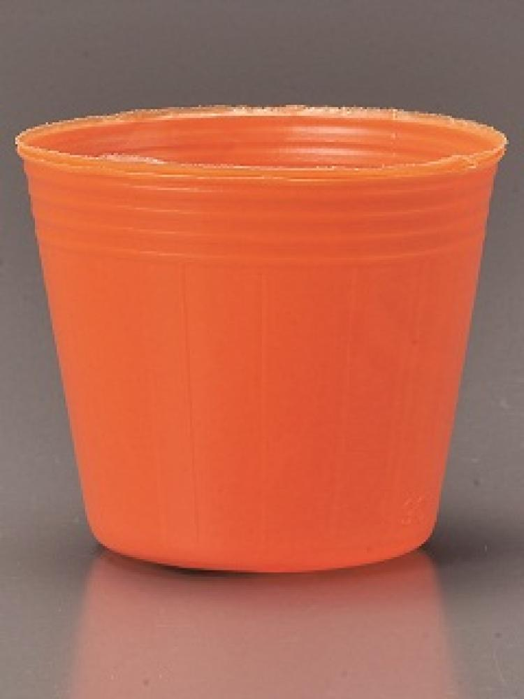 カラーポット 12cm  オレンジ 100P