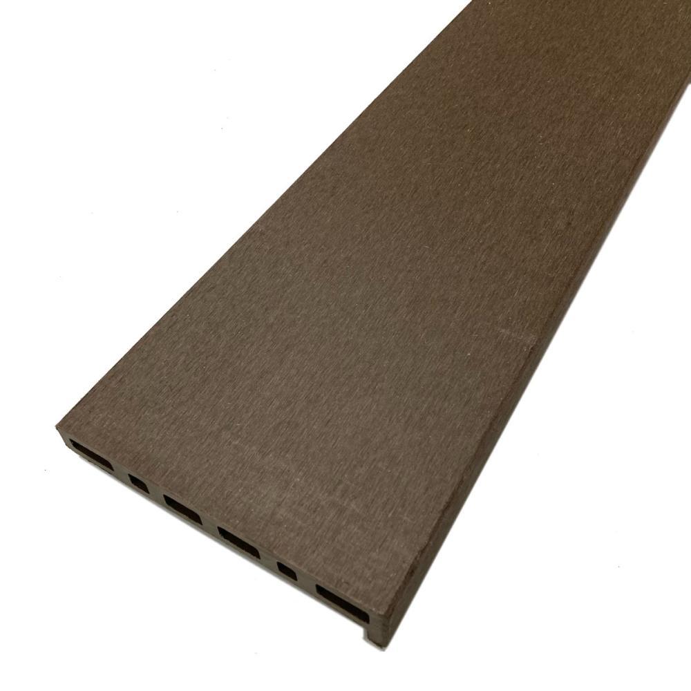 人工木デッキ材幕板 ダークブラウン 145×30×2690mm