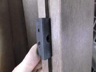 人工木デッキ用床板固定金具(10入)