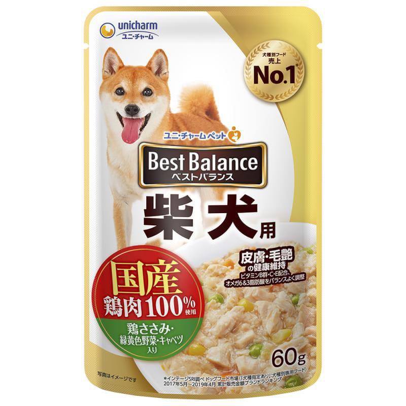 ベストバランス 国産鶏ささみパウチ柴犬用 60g