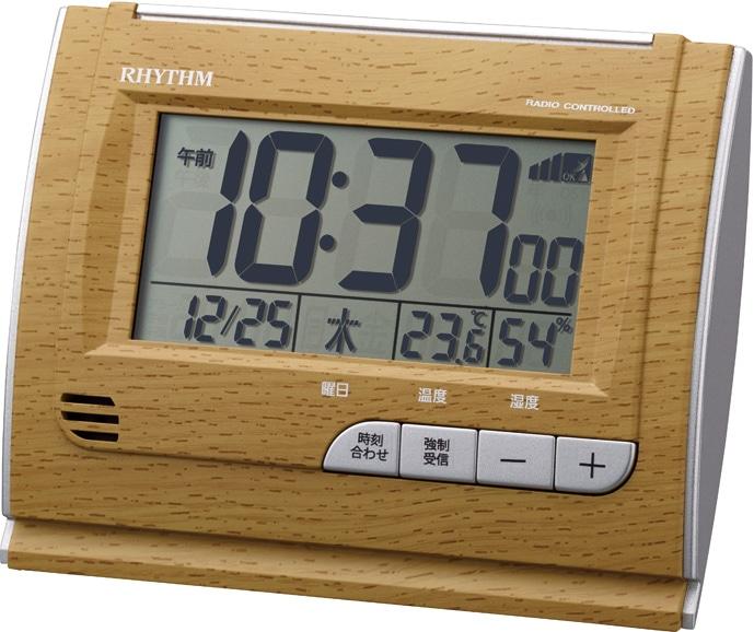 リズム時計 フィットウェーブ D165 薄茶