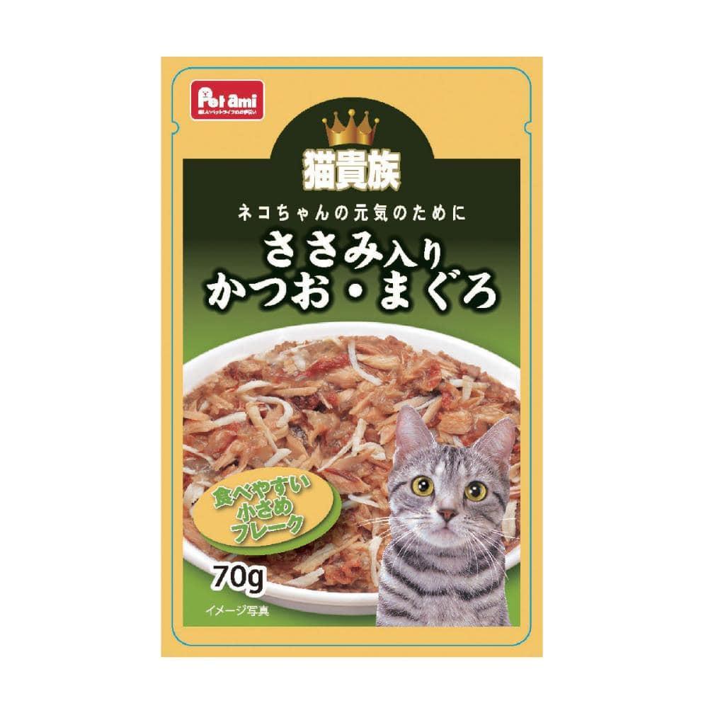 Petami 猫貴族 かつお・まぐろ ささみ入り 70g