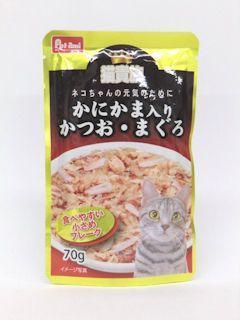Petami 猫貴族 かつお・まぐろ かにかま入り 70g
