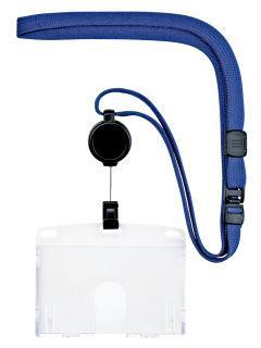 オープン 吊り下げ名札 リールハードIDカード ブルー NL-7P-BU