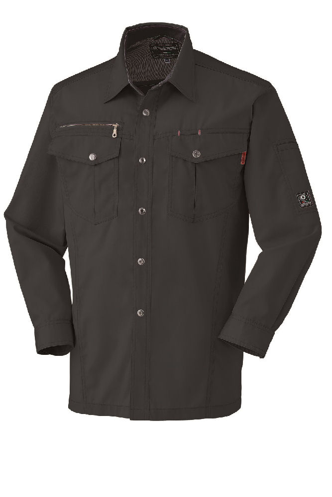 T/C 制電長袖シャツ 25593 スミクロ SS