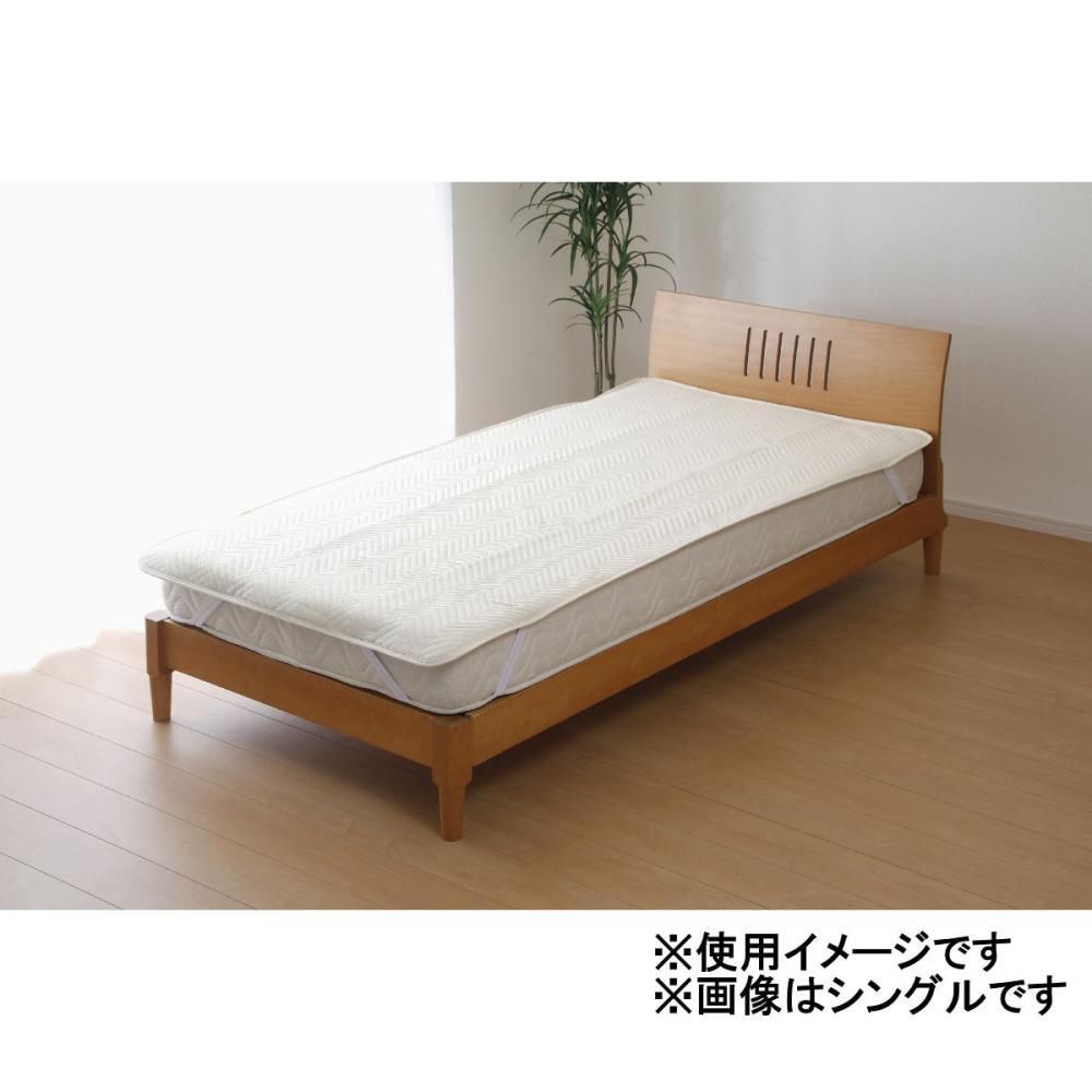 防水吸水速乾 消臭 ベッドパッド セミダブル