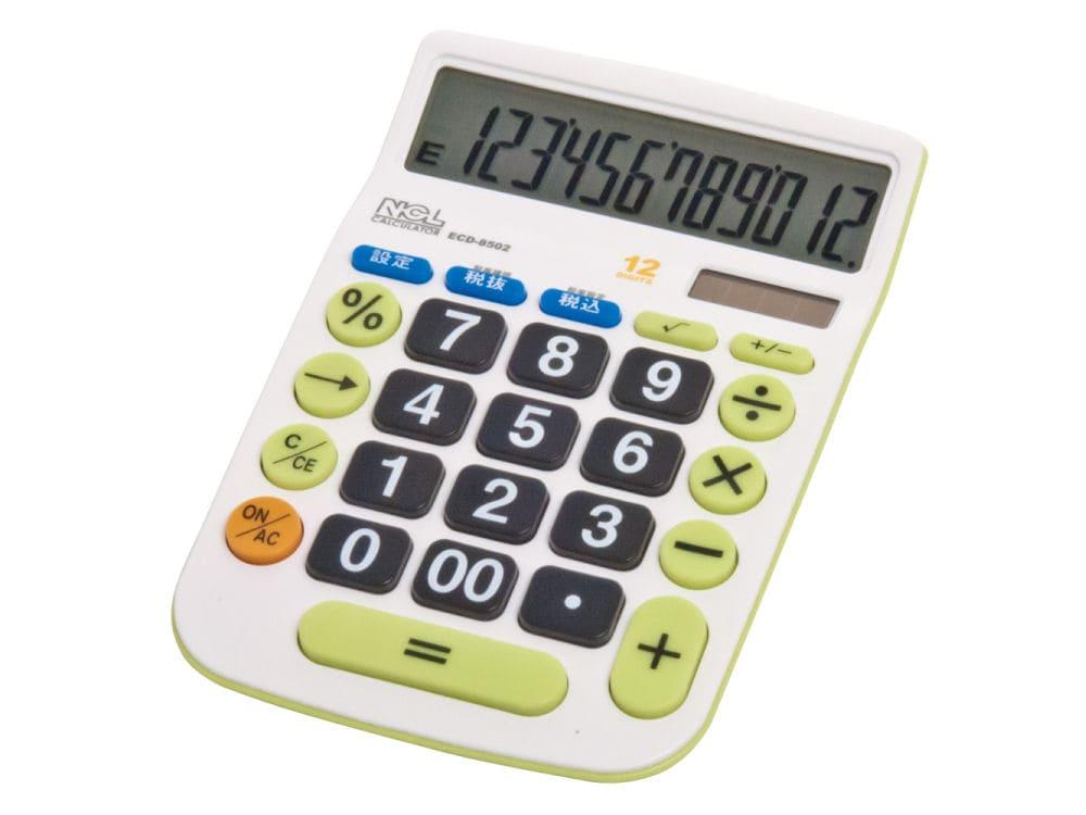 ナカバヤシ 12桁電卓 デスクトップ大型キー M ECD8502G