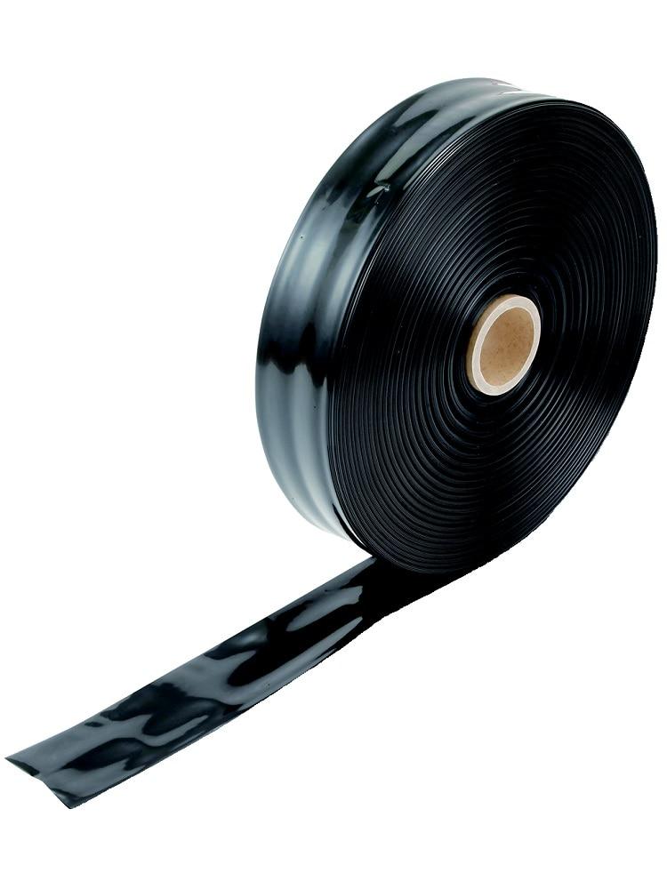 国産灌水チューブ 黒 厚み0.12mmx折幅50mmx200m巻 両面穴 ピッチ150mm