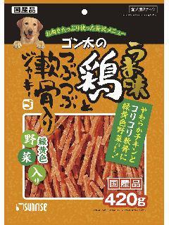 サンライズ ゴン太うま味鶏J緑黄色野菜入り420g