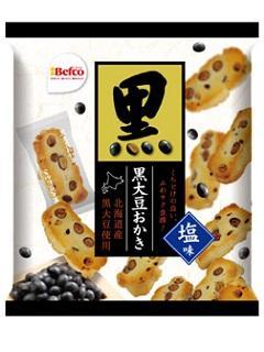 栗山米菓 黒大豆おかき 塩味 84g