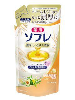 バスクリン ソフレ入浴液 リッチミルク 詰替え 400ml