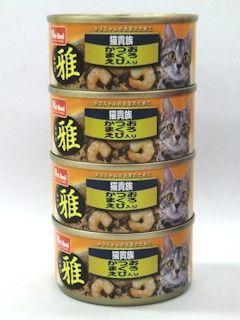 Petami 猫貴族 雅(みやび) かつおまぐろえび入り 80g×4缶パック